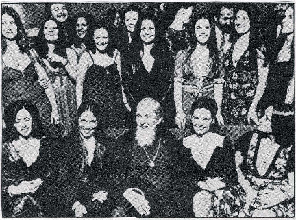 David Brandt Berg founded the children of God in the late-Sixties. Before long, having taken his secretary (second, from right) as his lover, Berg and the cult began practicing group sex, pedophilia and incest. Photograph courtesy of Don Irwin