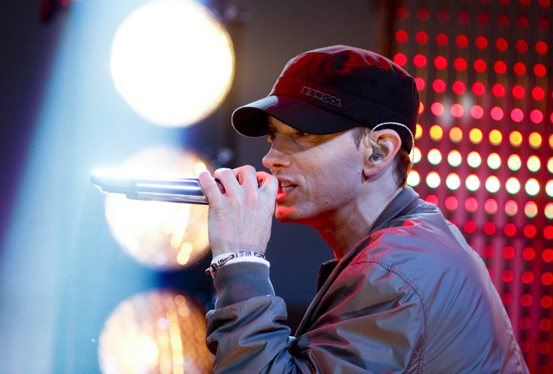 Eminem performs on 'Friday Night with Jonathan Ross' in London on June 4th, 2010.