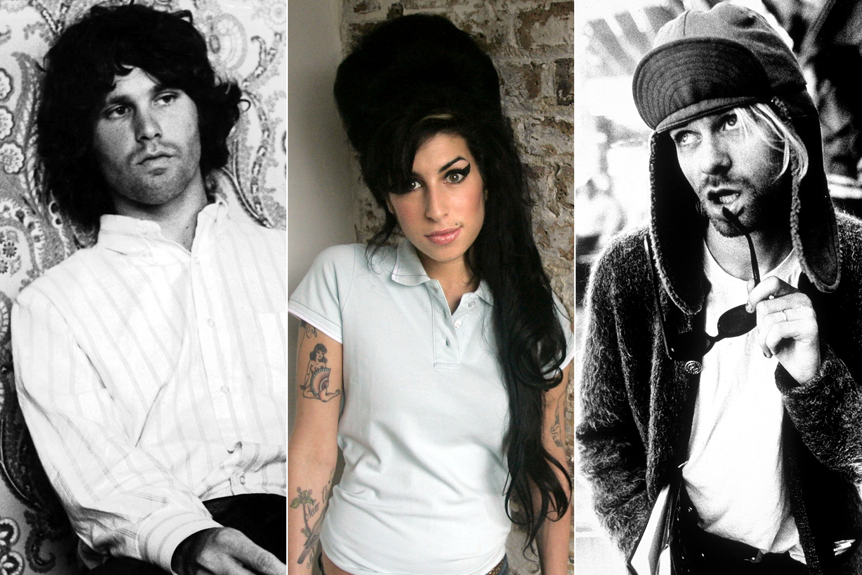 4fe7b8e2c Jim Morrison, Amy Winehouse and Kurt Cobain 27 club