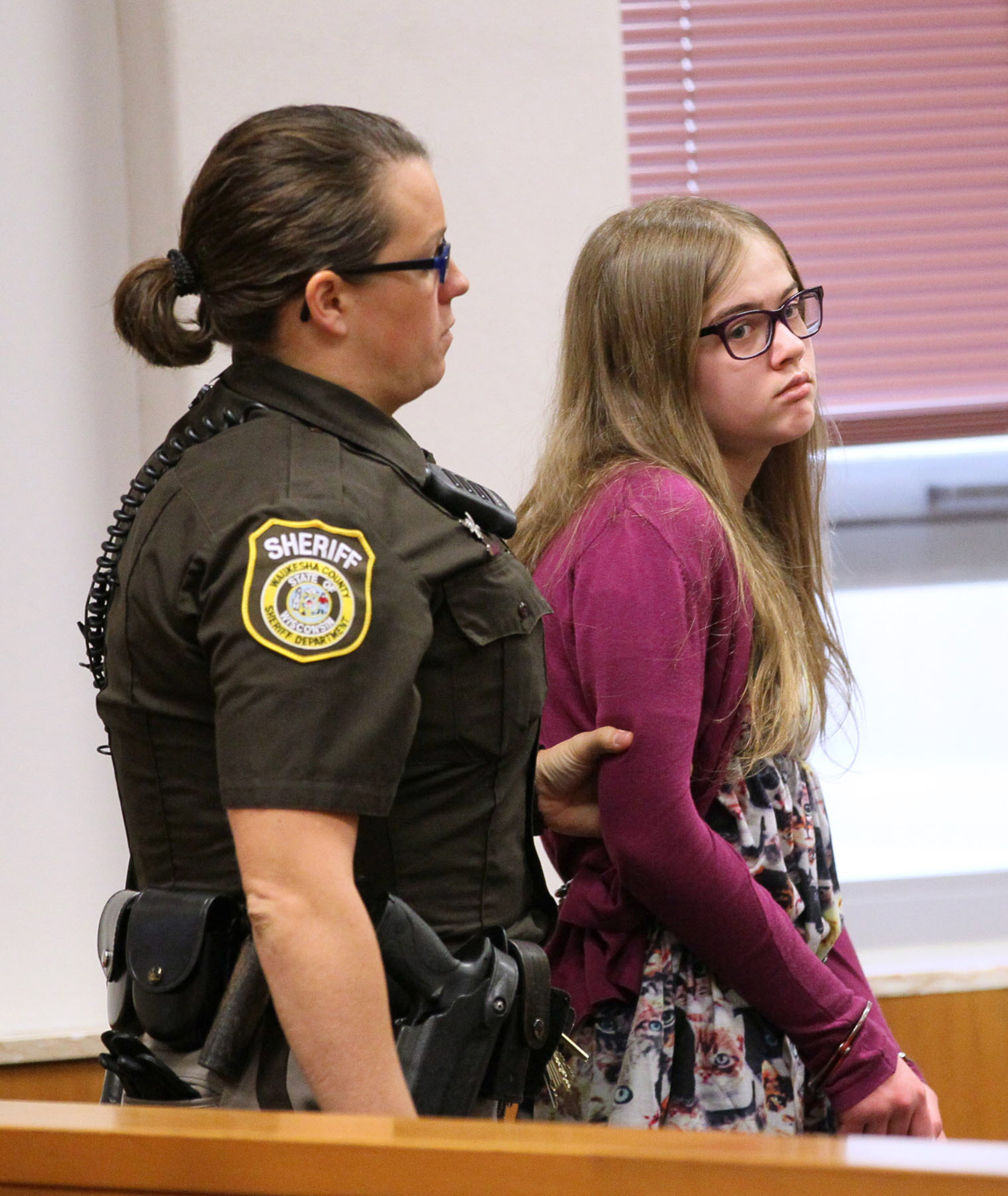 Morgan Geyser is brought into court by a sheriff s deputy on Aug. 21, 2015 8add330f5a