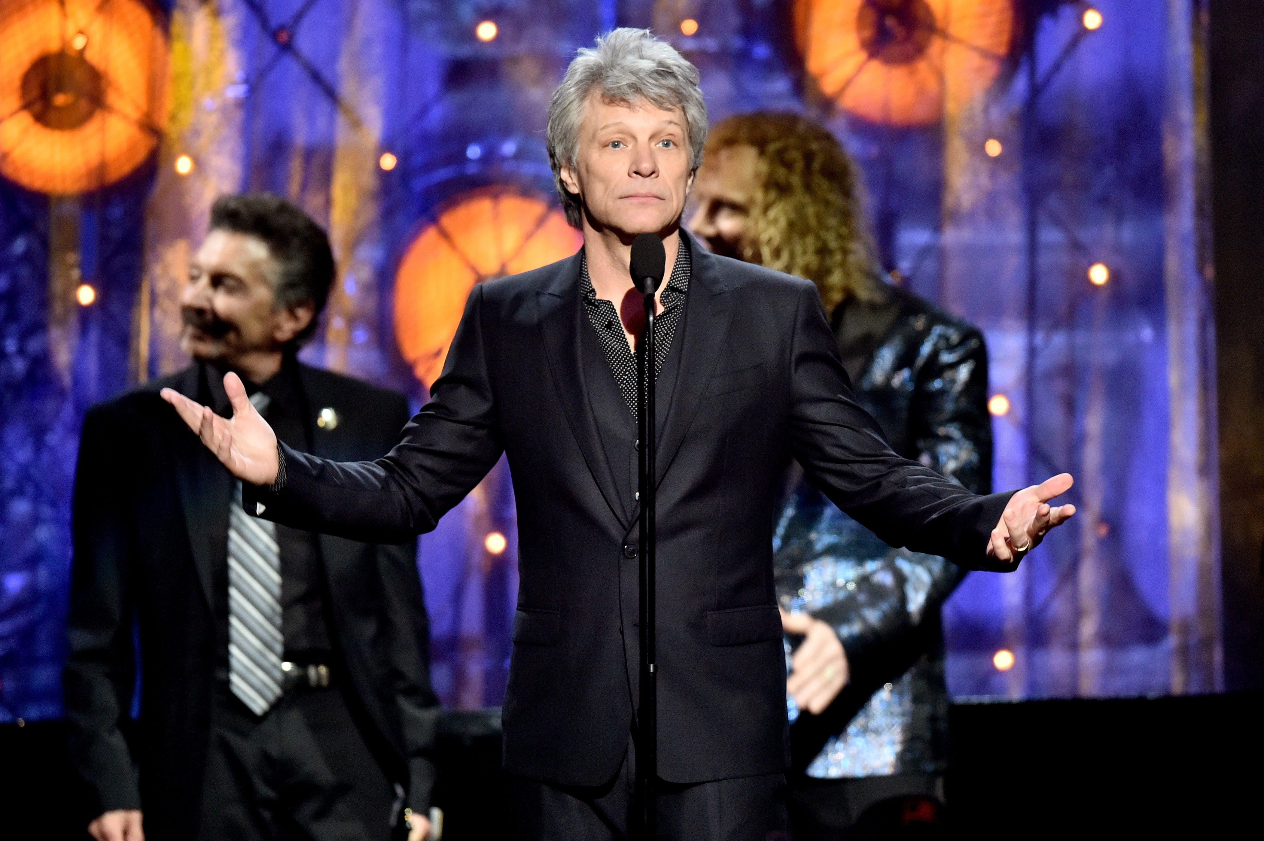 8d56ec8d563 Bon Jovi were inducted into the Rock and Roll Hall of Fame after being  eligible for almost a decade.
