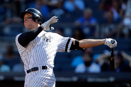 half off b52c1 80ec8 Aaron Judge Breaks MLB Rookie Record With 50th Home Run ...