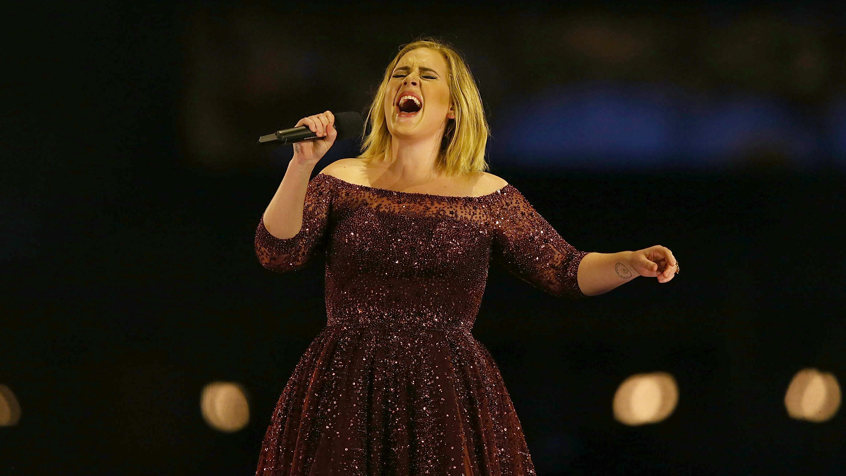 Adele Poster Live Singing Tour 25 Music Large Quality FREE P+P CHOOSE YOUR SIZE