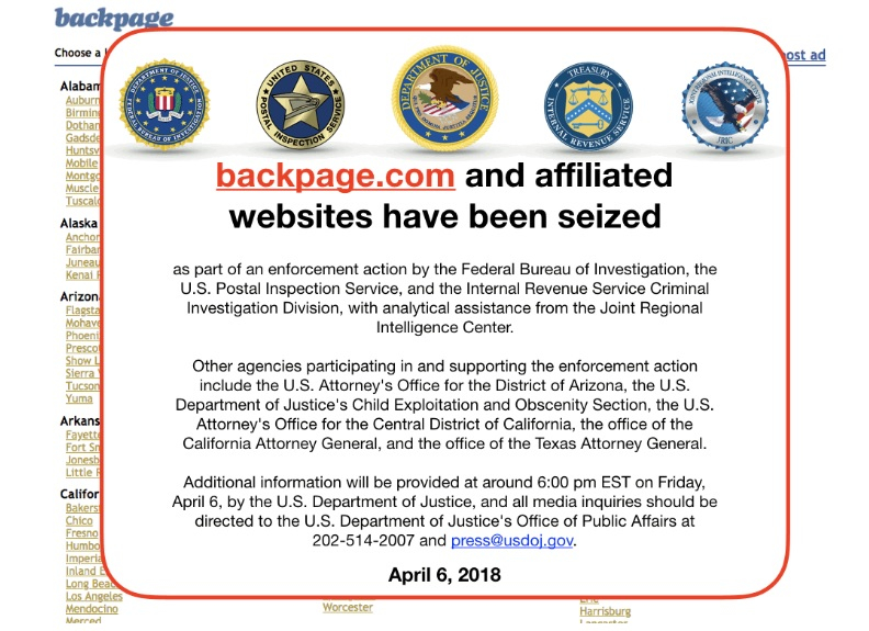 Backpage Com A Popular Classified Ads Website That Has Been Linked To Illegal Sex Trafficking Was Seized By The Justice Department Friday