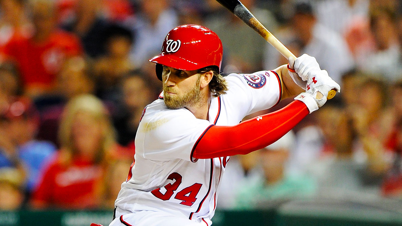 561f2e32dc7 Bryce Harper  34 of the Washington Nationals bats against the Miami Marlins  at Nationals Park