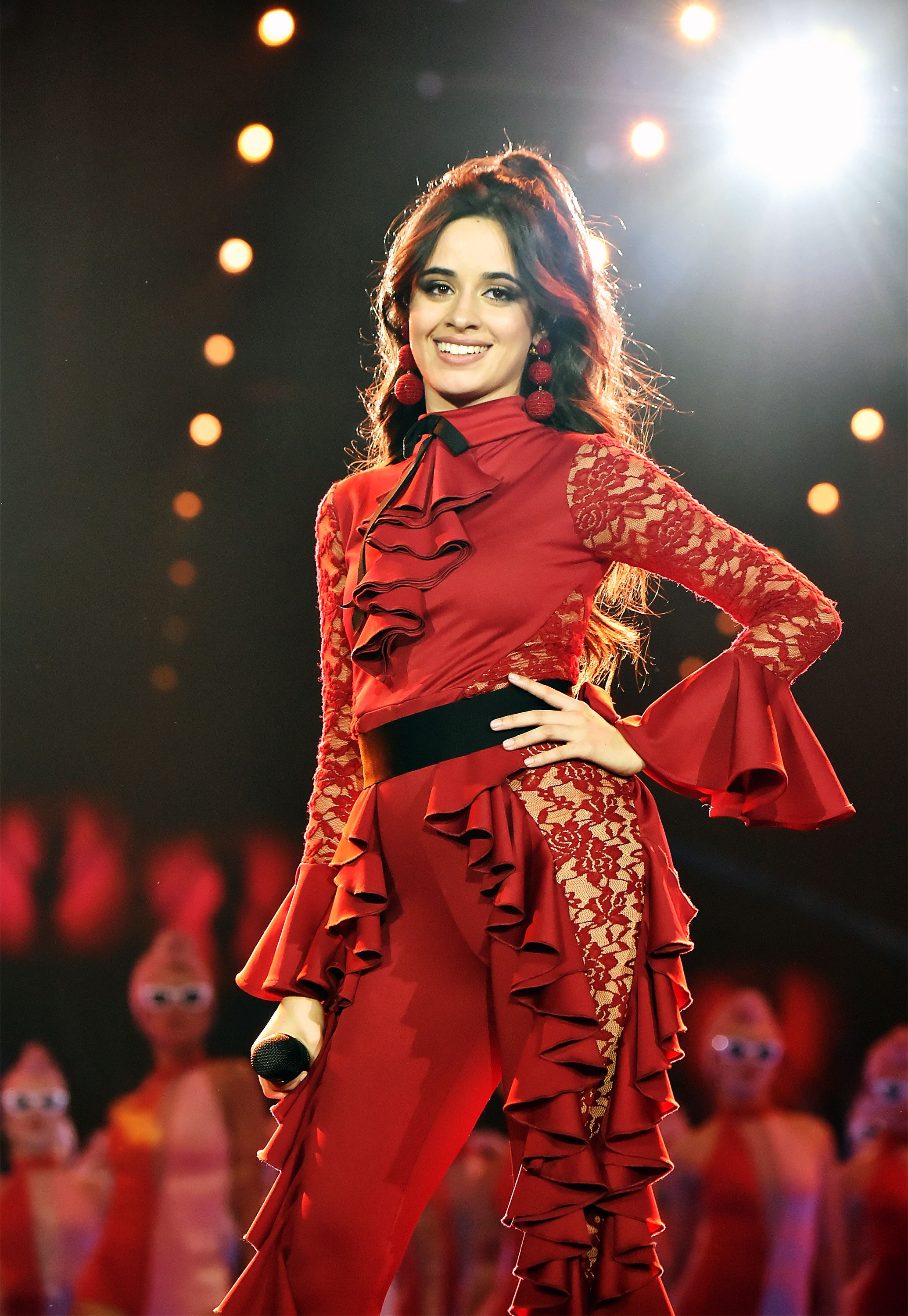 ca6a79a2477289 Camila Cabello performs on stage during the MTV EMAs 2017 held at The SSE  Arena, Wembley on November 12, 2017 in London, England.