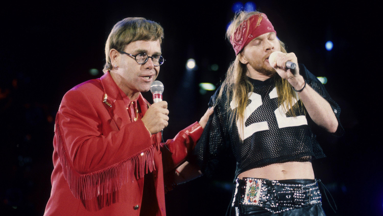 Elton John, Axl Rose Play 'Bohemian Rhapsody' After Freddie