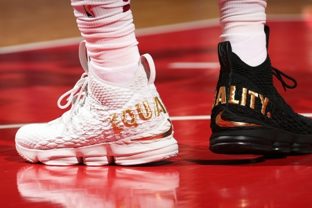 Lebron James Wears Black And White Equality Sneakers Rolling Stone