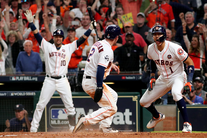 buy popular 9f9d3 60eaa World Series 2017: Houston Astros Win, Home Runs, Dodgers ...