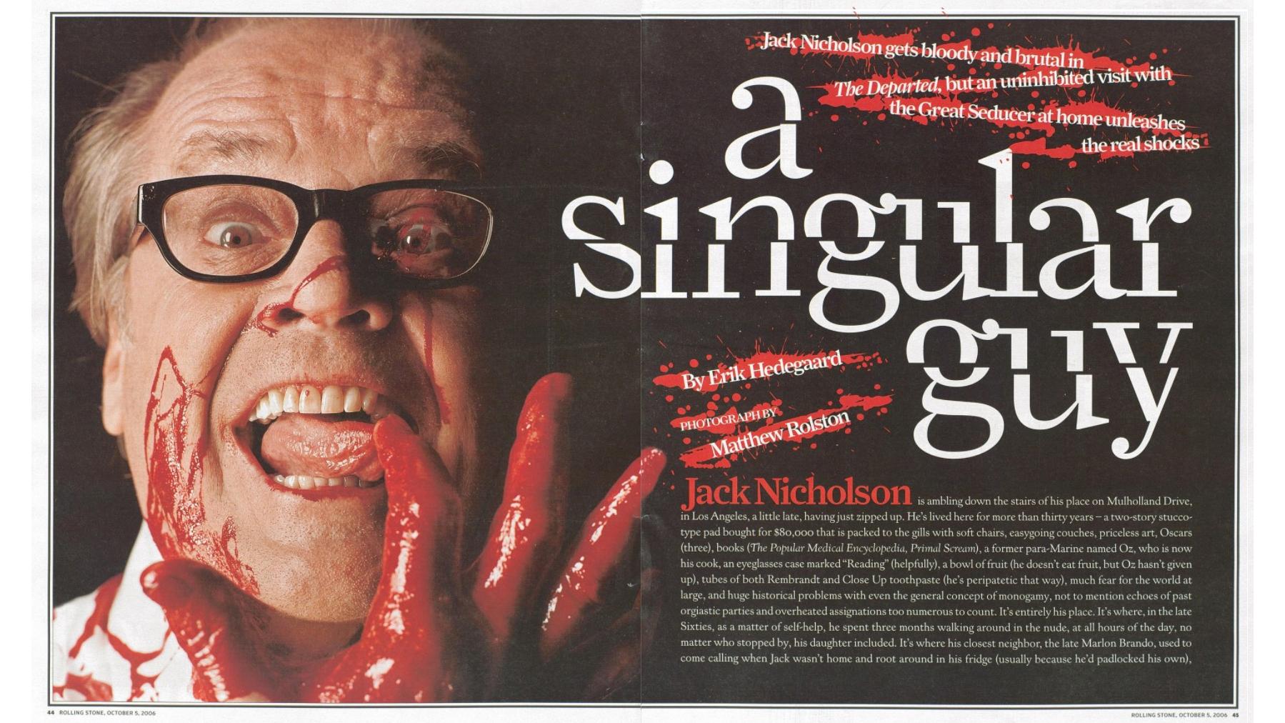 Tao Of Jack Nicholson Icon On Love Sex Movies Rolling Stone