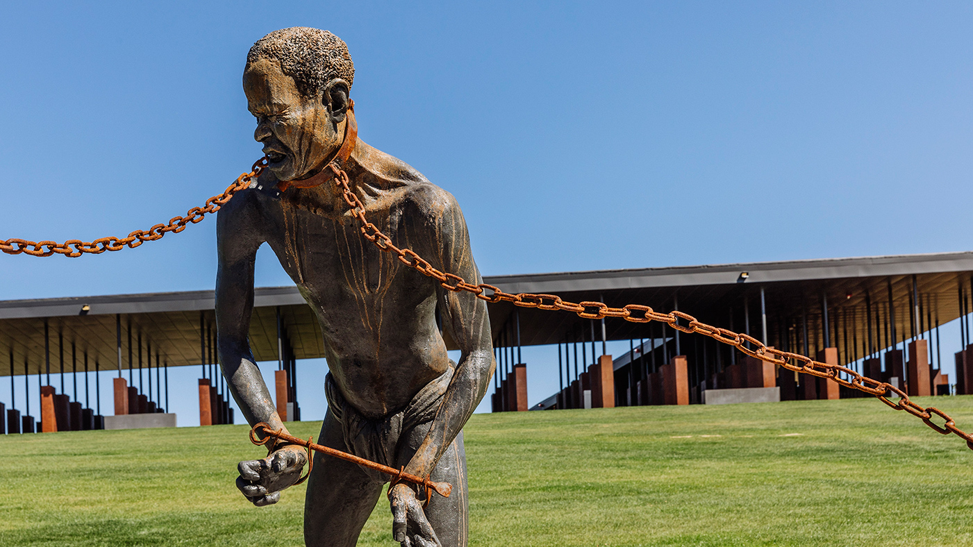 national lynching memorial on a hill in alabama the lynched haunt