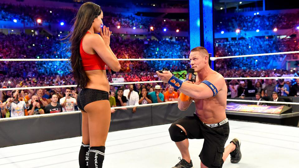 Watch John Cena Propose to Nikki Bella at \'WrestleMania 33 ...