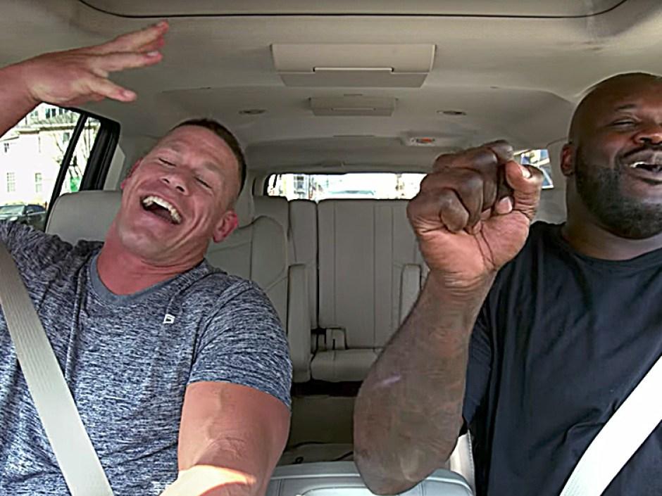 John Cena, Shaquille O'Neal Swap Puns on 'Carpool Karaoke