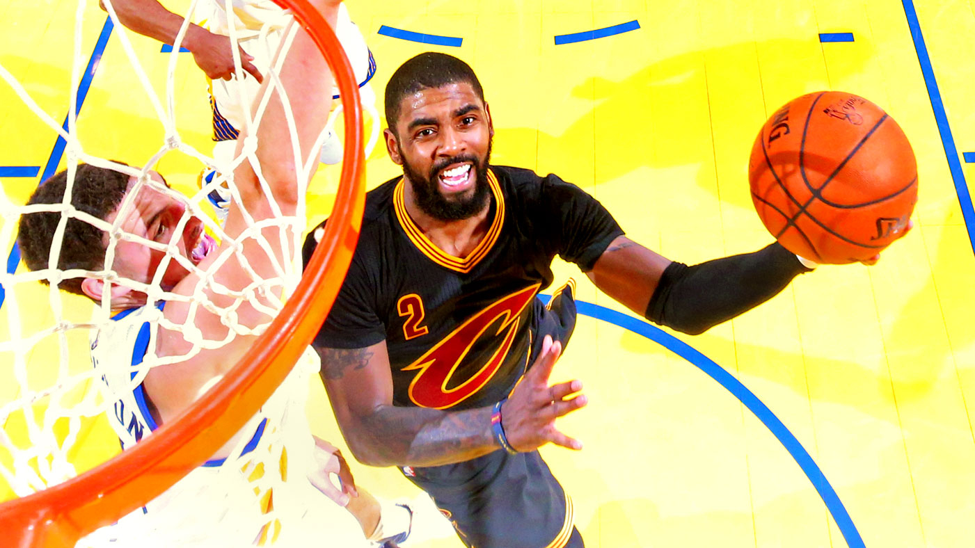 83bfc1cf93e2f4 OAKLAND, CA - JUNE 12: Kyrie Irving #2 of the Cleveland Cavaliers attempts
