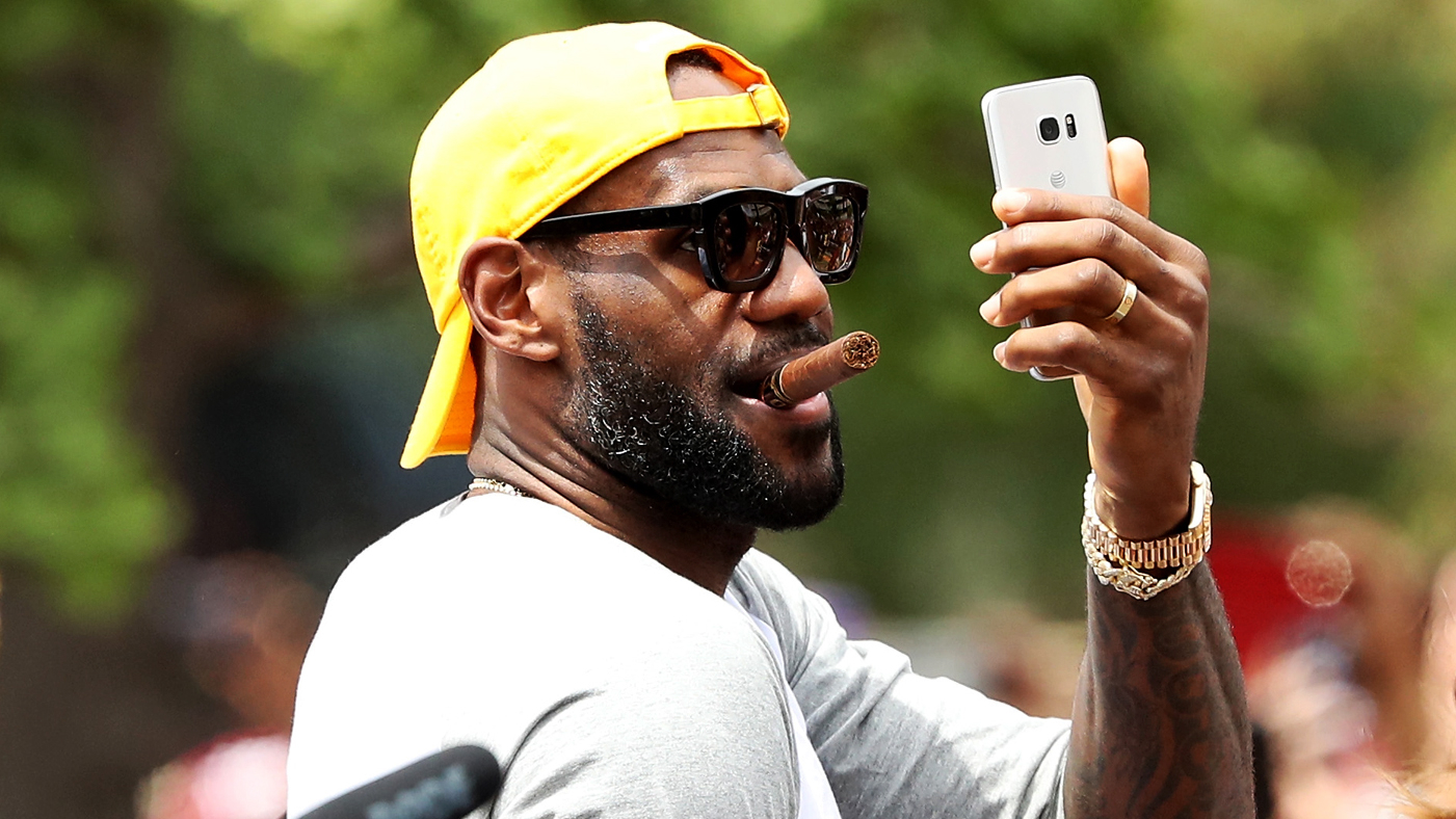 new product 516b4 e5725 CLEVELAND, OH - JUNE 22  LeBron James  23 of the Cleveland Cavaliers attends