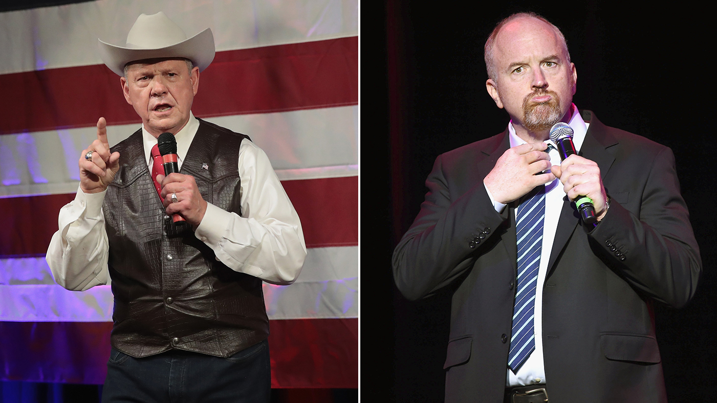 Looking at response to Louis CK and Roy Moore allegations