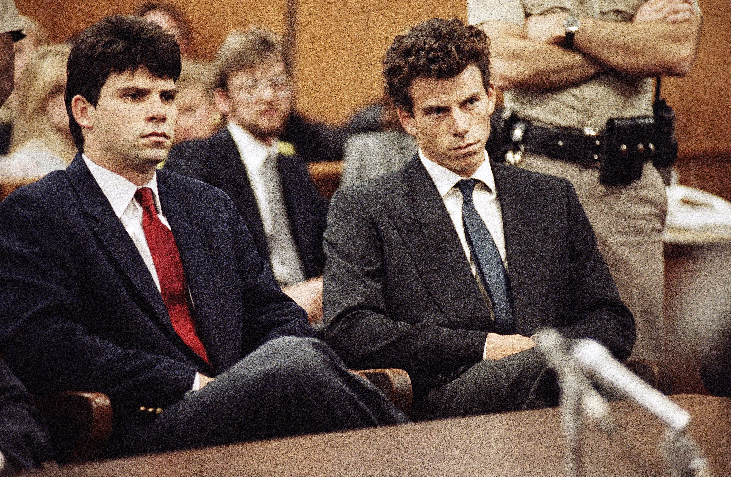 menendez brothers I'm just a normal kid, erik menendez says across the table, barbara walters's head cranks backwards and her eyelids go all the way up erik you're just a normal kid who  killed your parents.