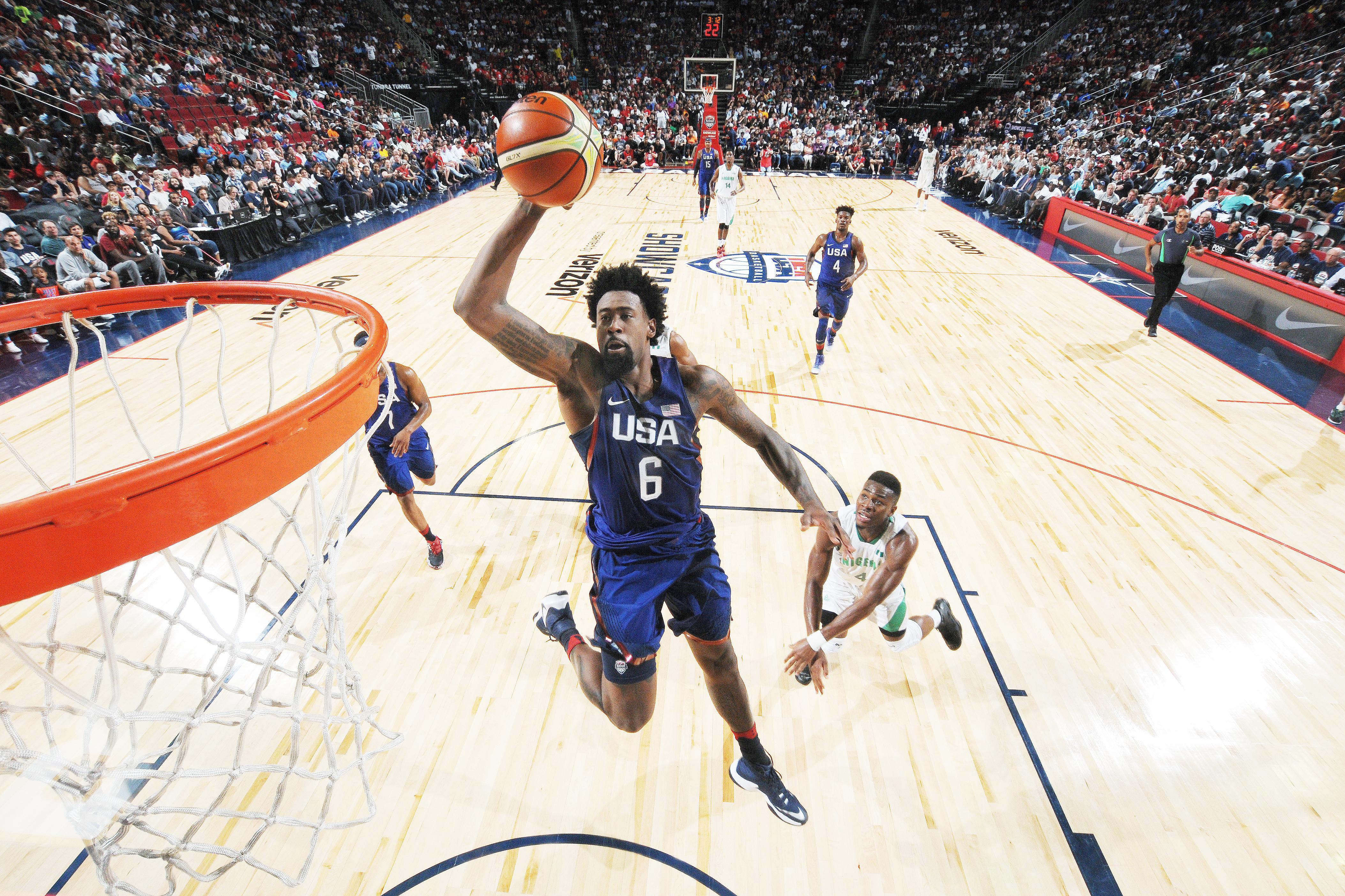 d81e16950021 1  DeAndre Jordan  6 of the USA Basketball Men s National Team goes for the