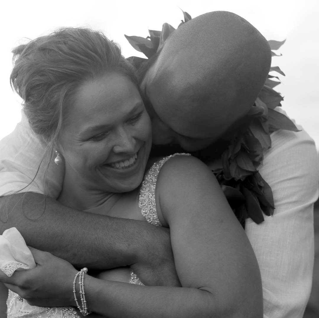 Ronda Rousey Travis Browne Share Wedding Day Photos Rolling Stone