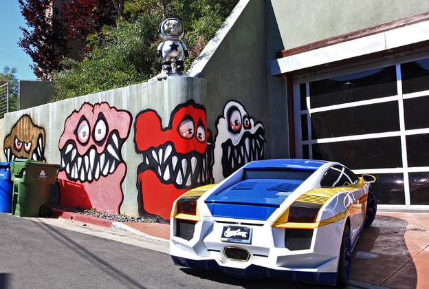 Chris Brown Upsets L.A. Neighbors With Curbside Murals