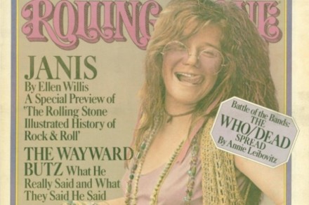 Rolling Stone's cover story features Janis Joplin – Rolling Stone