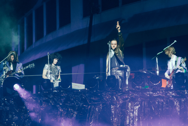 Arcade Fire Loom Large on Capitol Records Stage