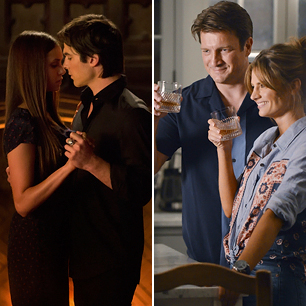 Does elena and damon hookup in real life