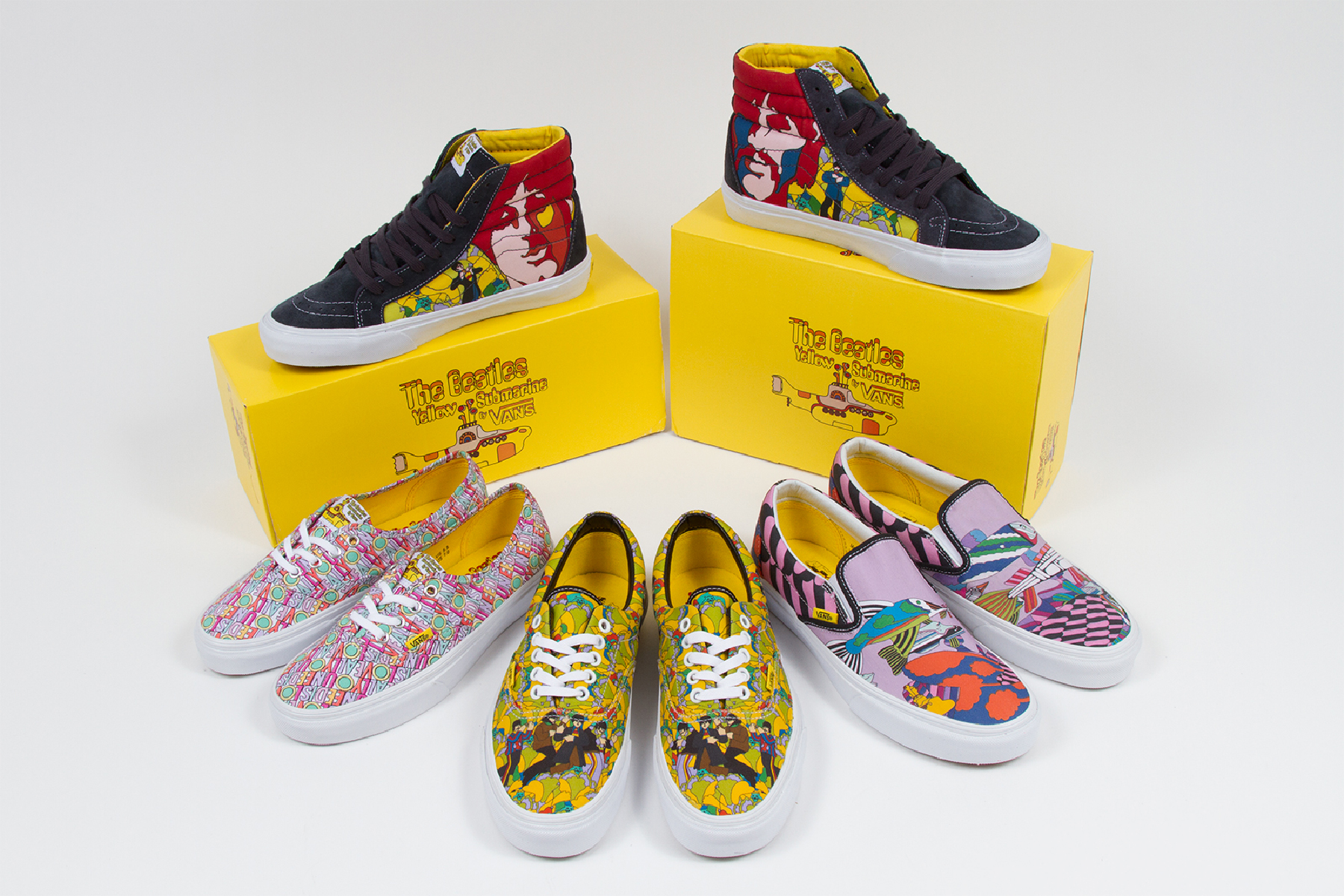 4a7db1e908 The Beatles Team With Vans for  Yellow Submarine  Shoes – Rolling Stone