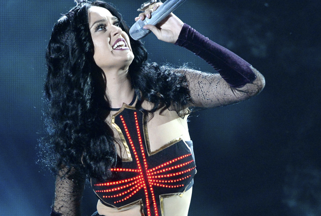 Katy Perry Casts a Spell, Jumps in the Fire in Grammys Performance