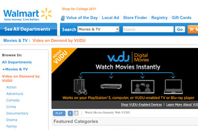Wal-Mart Website Gets Online Movie, Video Streaming – Rolling Stone