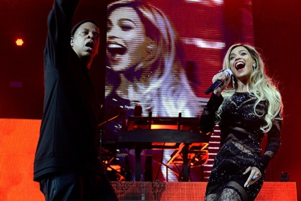 Jay Z and Surprise Guest Beyonce Tackle DirecTV's Super Bowl