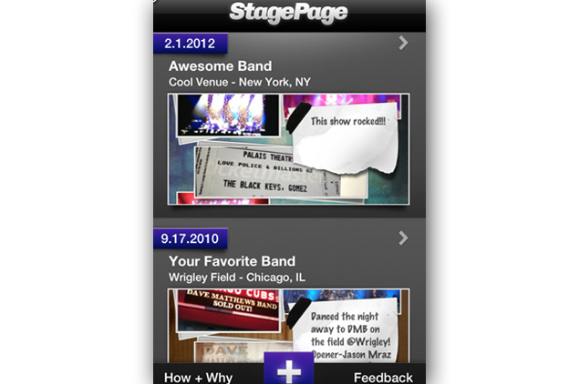 Stagepage Creates Virtual Concert Scrapbook Rolling Stone
