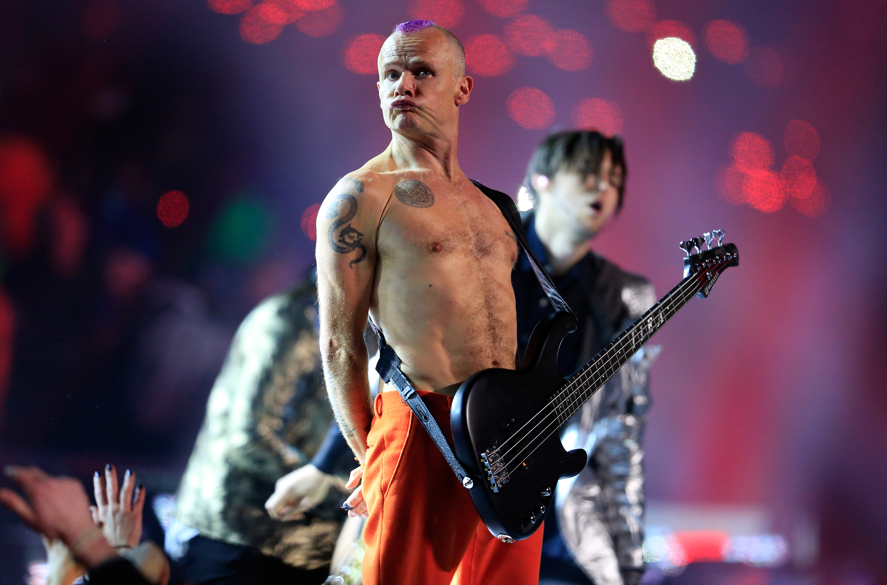 27be19fea38e Red Hot Chili Peppers  Flea Explains His  Miming  at the Super Bowl ...