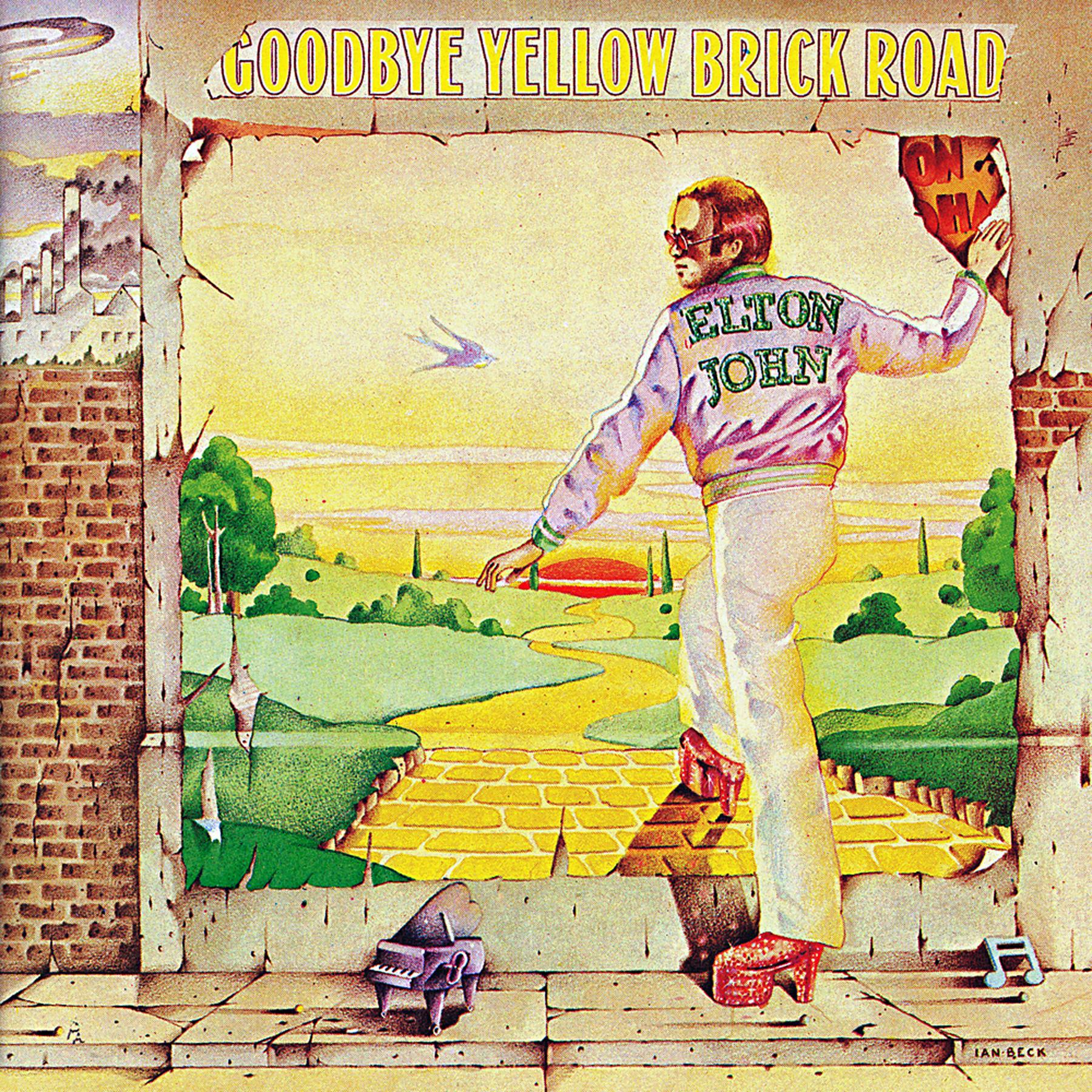 Song Lyric Artwork Music Print Poster Goodbye Yellow Brick Road by Elton John