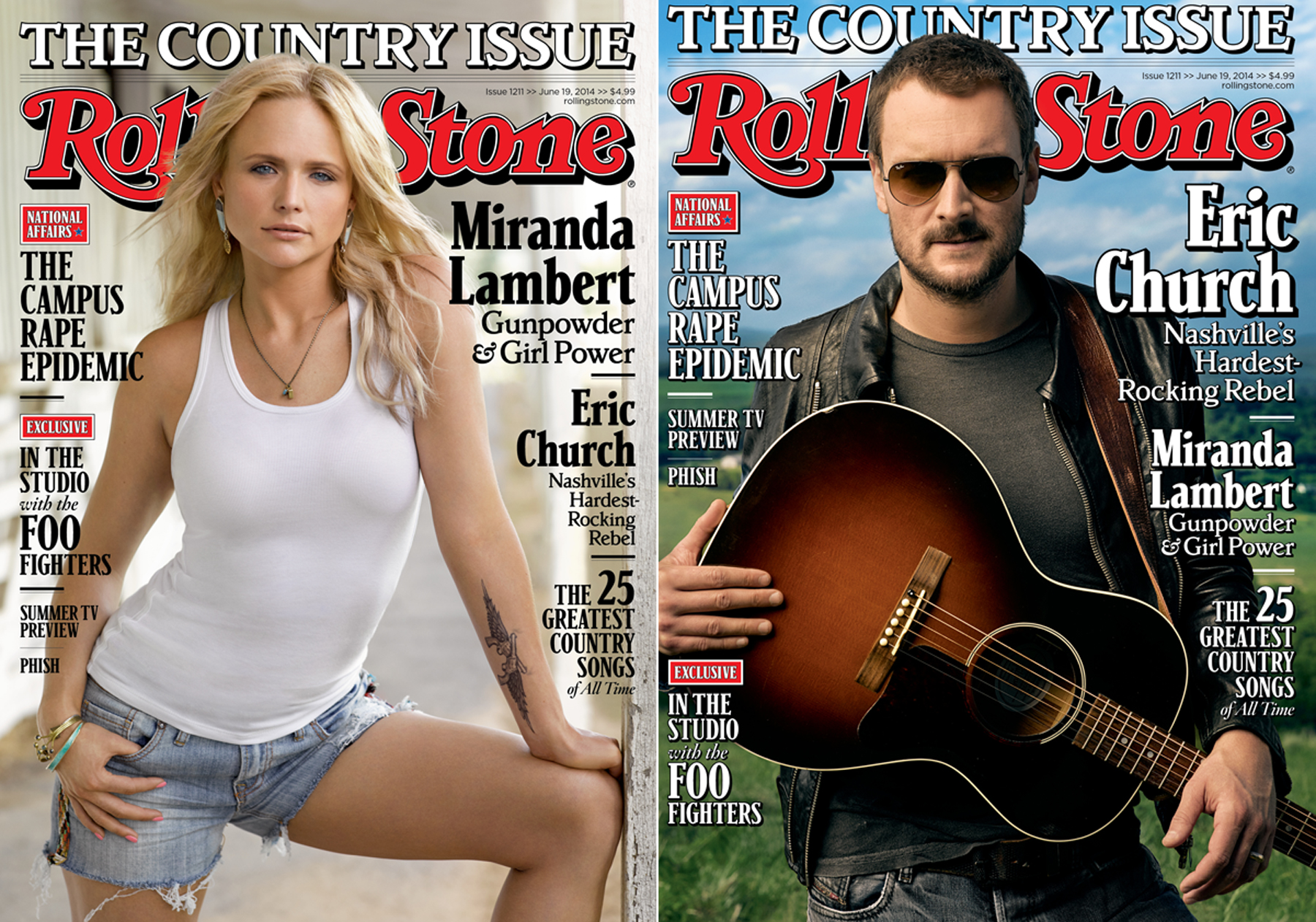 Eric Church and Miranda Lambert: Inside Rolling Stone's Country Issue
