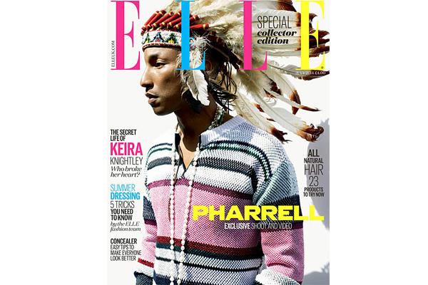 Pharrell Apologizes for Wearing Headdress on 'Elle UK' Cover