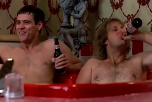 Flashback: The Unedited Jacuzzi Scene From 'Dumb and Dumber