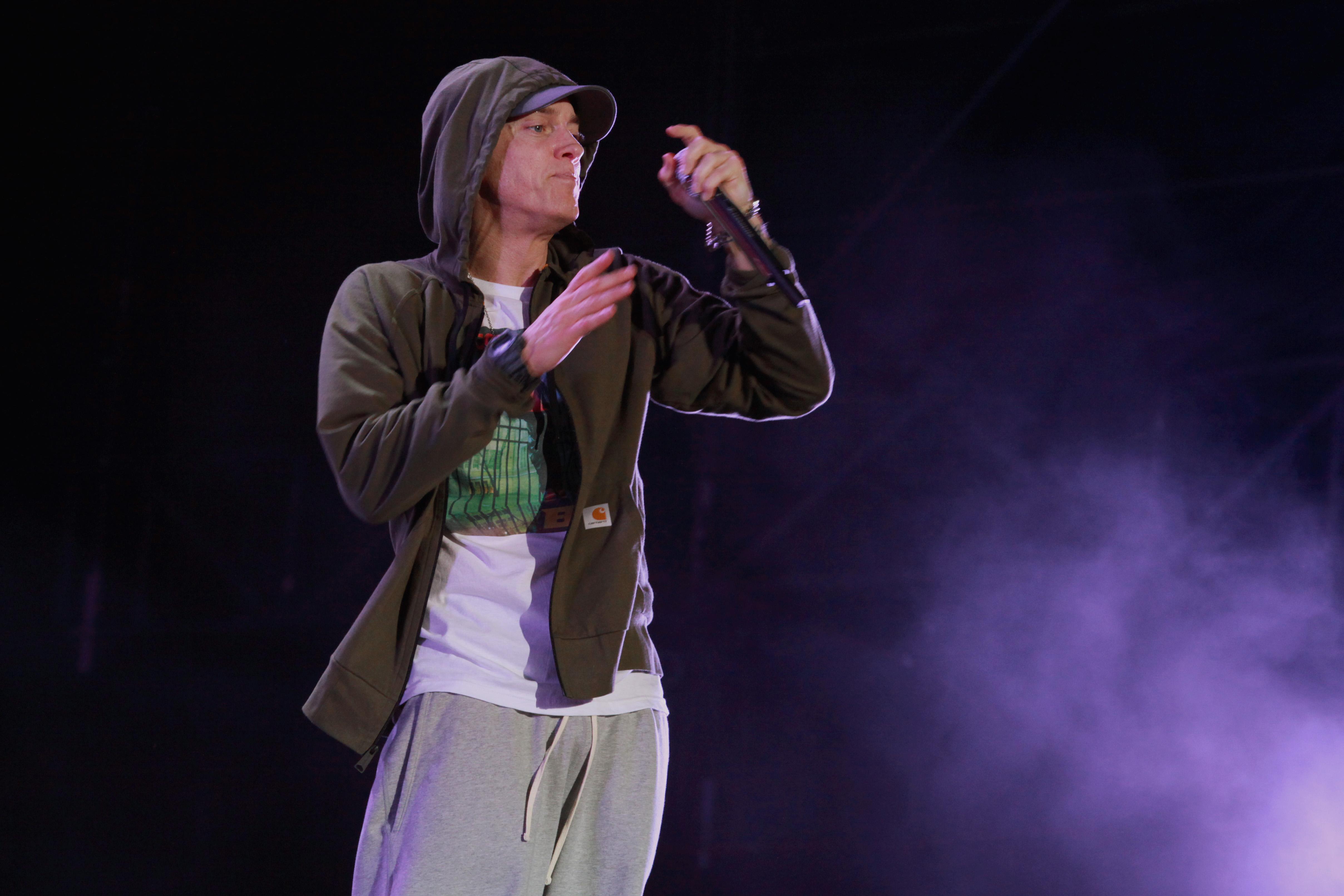 d0daa9fe555 Hear Eminem and Sia s Triumphant New Duet  Guts Over Fear  – Rolling ...