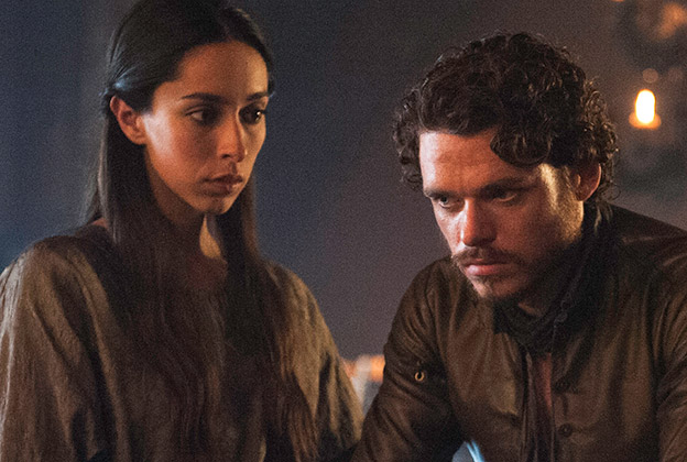 Delicieux Oona Chaplin, Talisa Maegyr, Richard Madden, Robb Stark, Game Of Thrones,