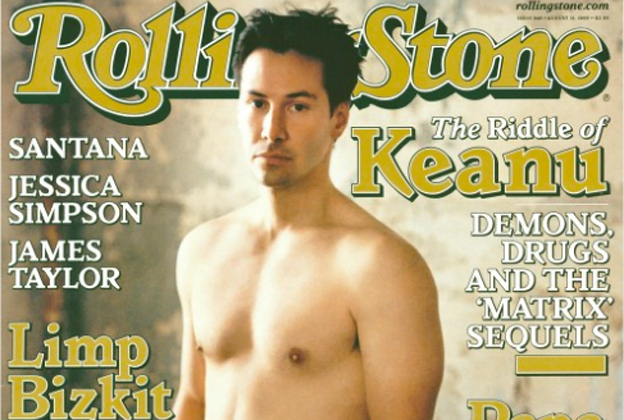 Keanu Reaves on the cover of Rolling Stone issue # 848.