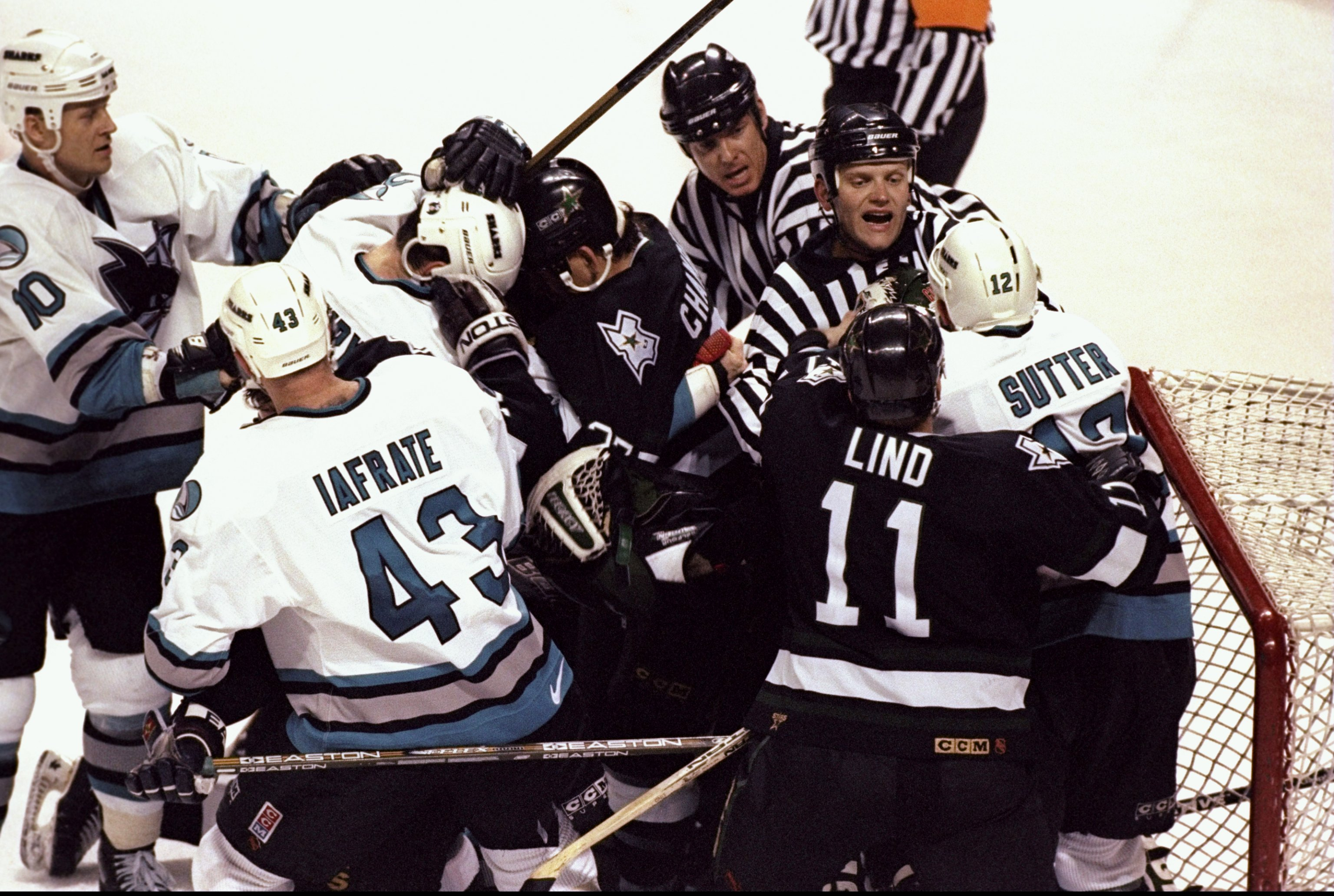 Fight during an NHL playoff game between the Dallas Stars and the San Jose  Sharks at the San Jose Arena in San Jose ce9f3cba4