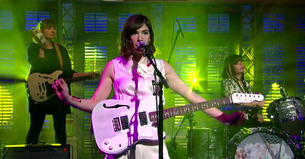 Sleater-Kinney Kick Their Way Into 'A New Wave' on 'Letterman'