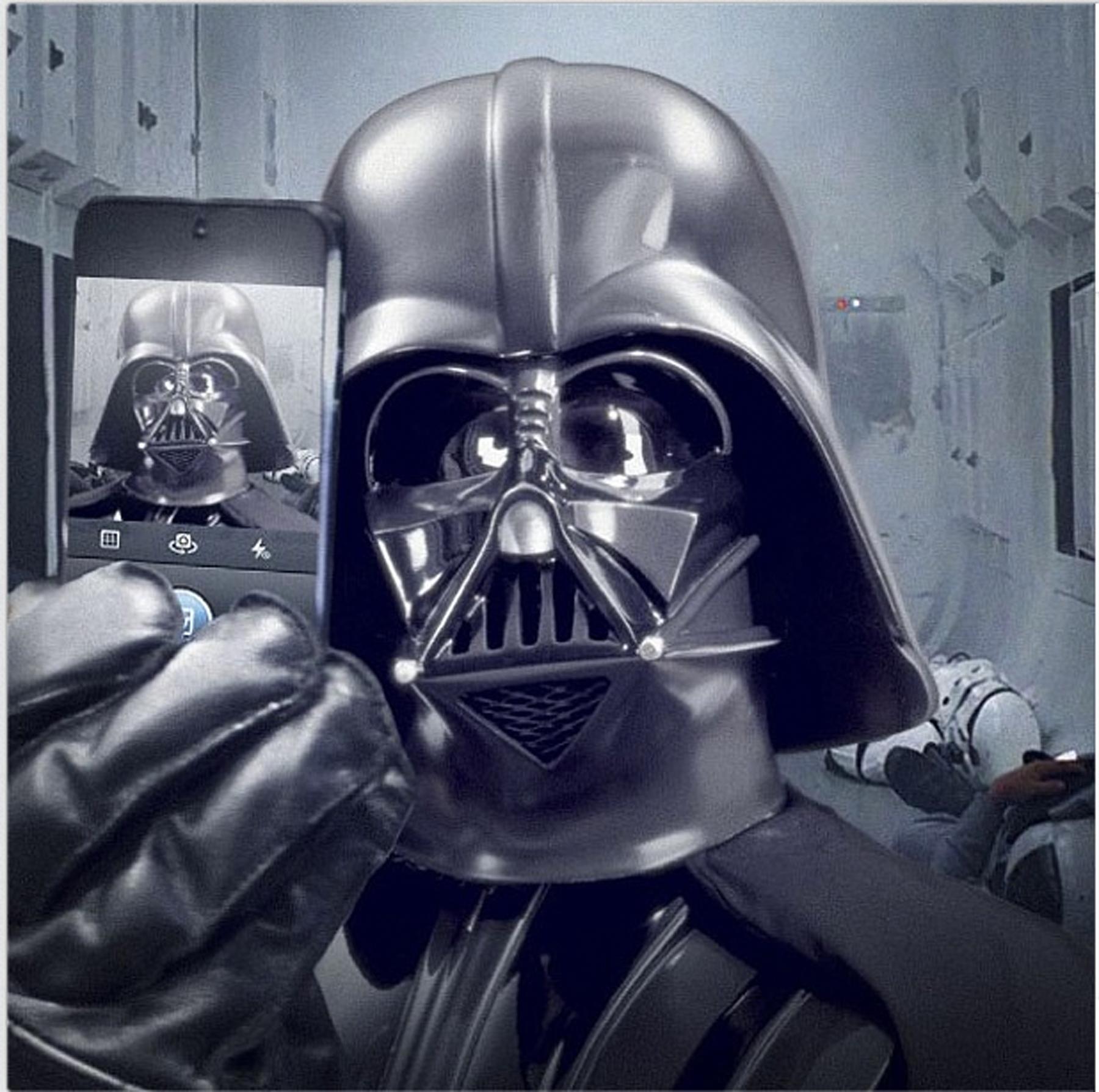 'Star Wars' Shares Darth Vader Selfie
