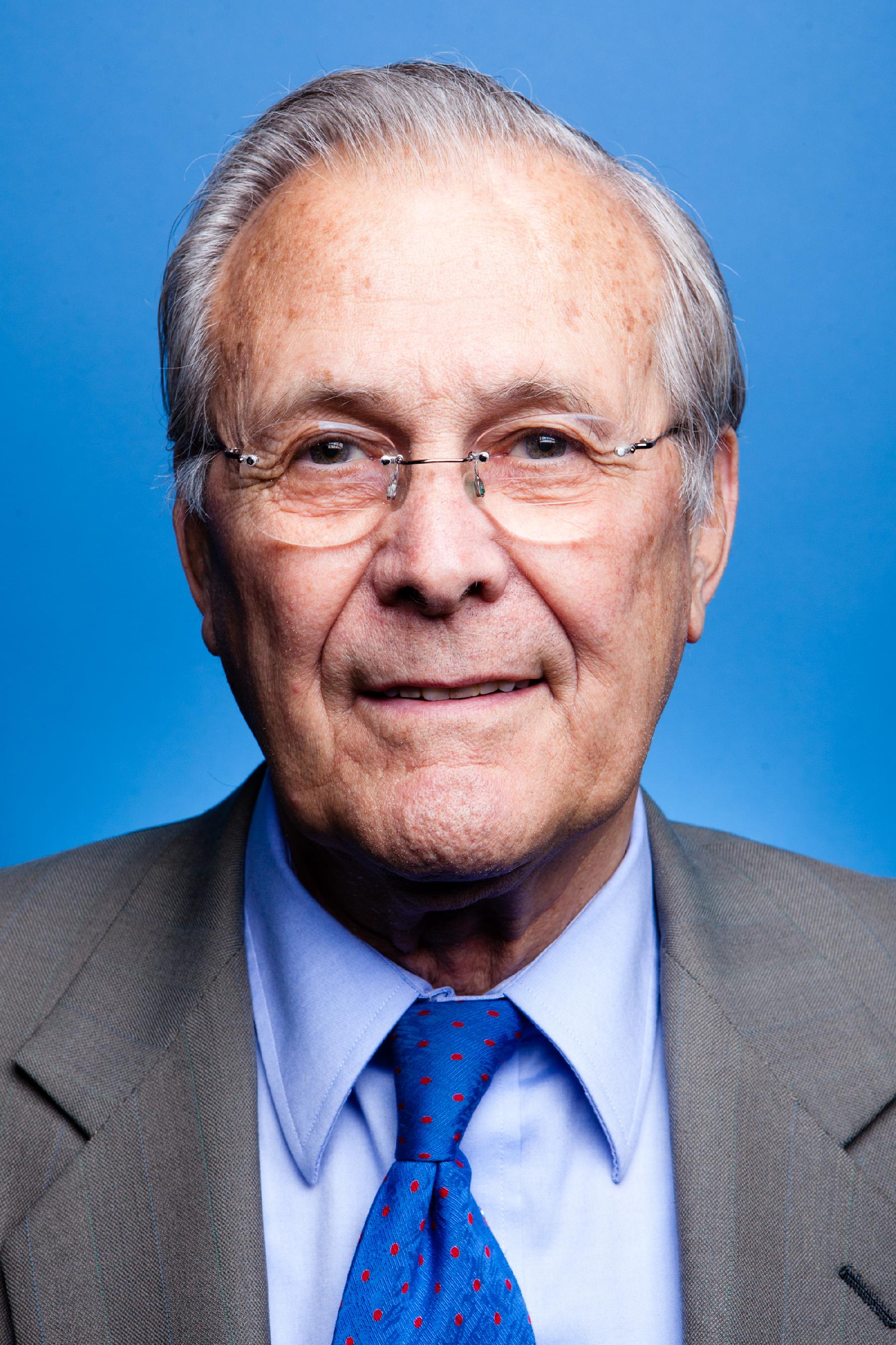Portratt donald rumsfeld