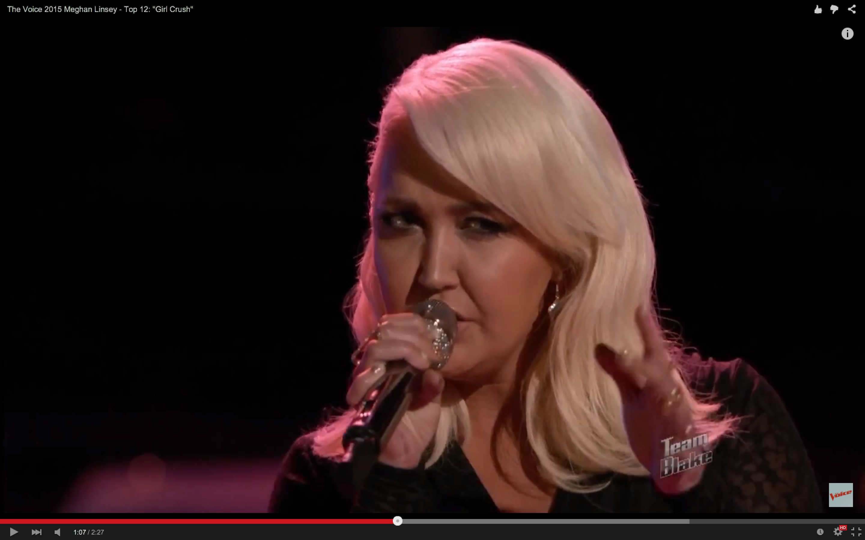 Watch 'The Voice' Finalist Meghan Linsey Cover 'Girl Crush