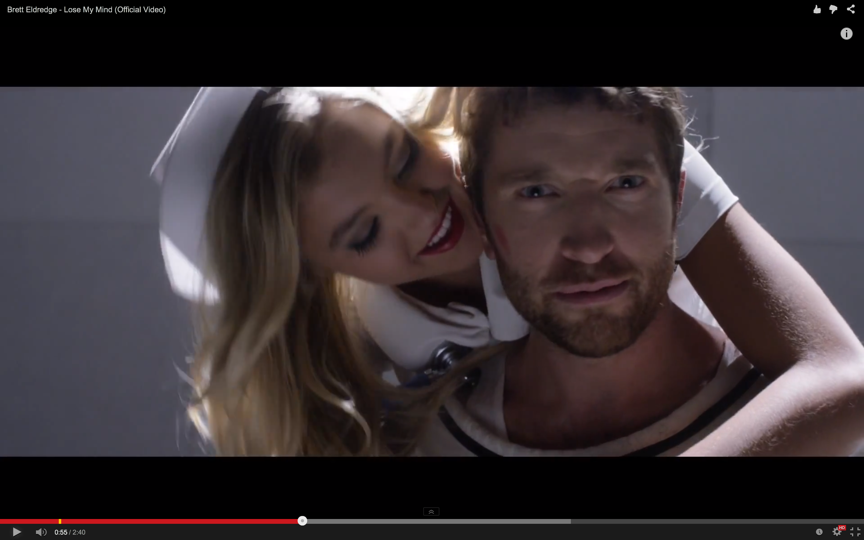 See Brett Eldredge Don A Straitjacket In Lose My Mind
