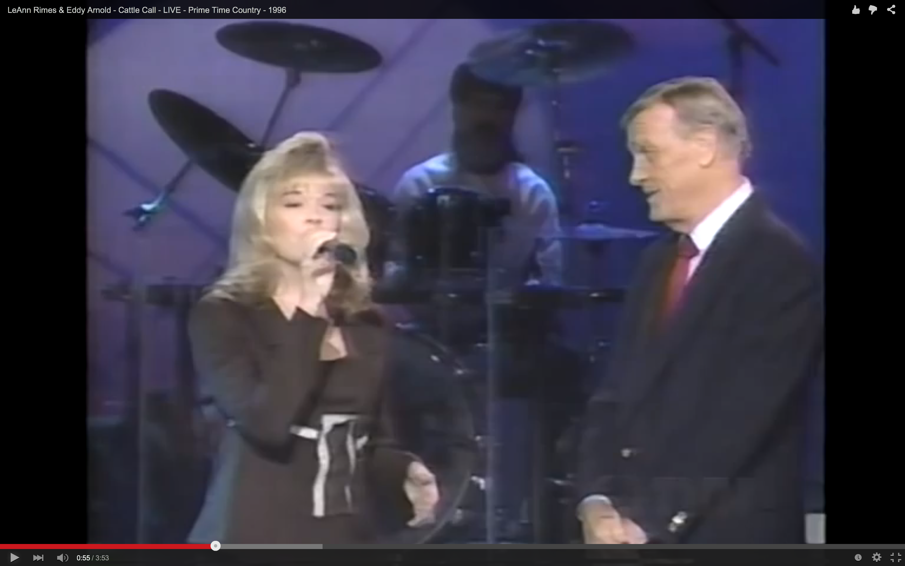 Flashback Eddy Arnold Joins Teen Leann Rimes In A Yodeling Match