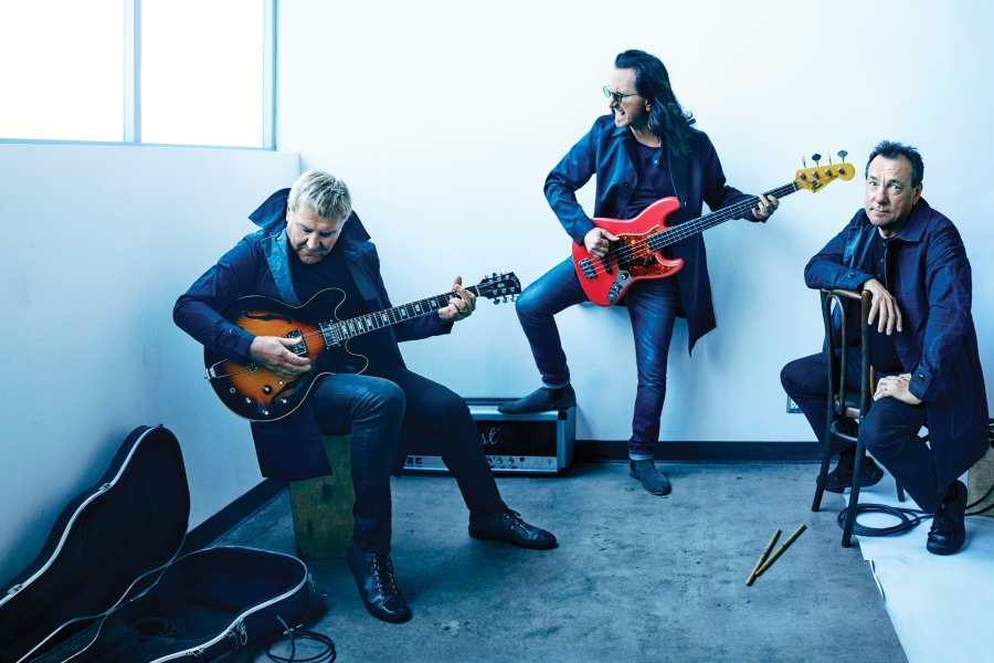Alex Lifeson, Geddy Lee and Neil Peart