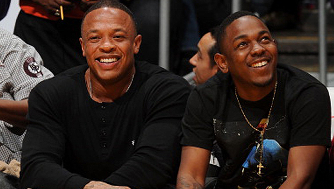 Dr Dre and Kendrick Lamar
