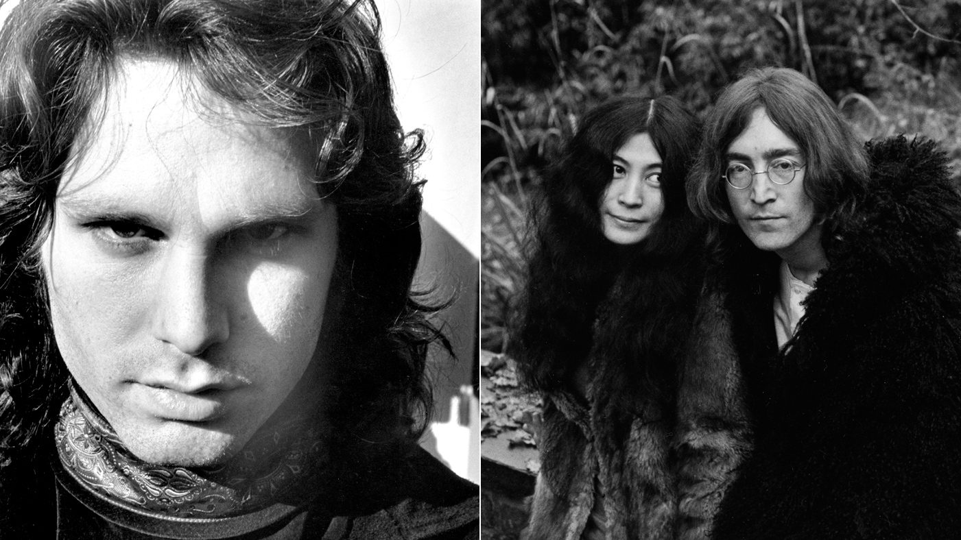 Jim Morrison And Yoko Ono With John Lennon